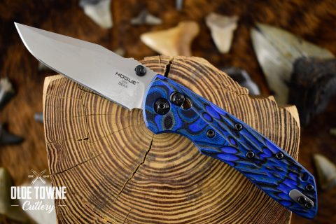 Hogue Knives 24273 Deka Blue Lava G10