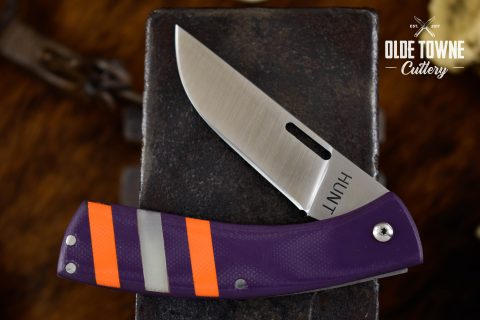 T.M. Hunt Custom Folder .32 Purple Orange/White