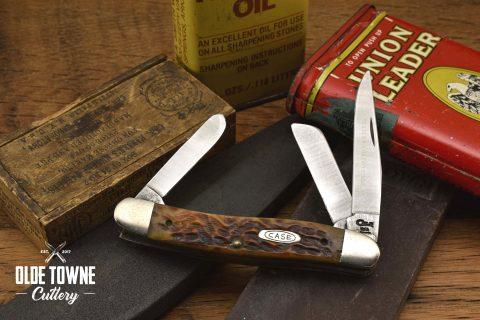 Vintage Case Stockman Brown Jigged Bone