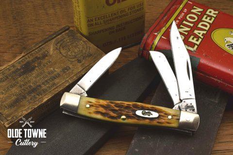 Vintage Case Stockman #27 Amber Jigged Bone