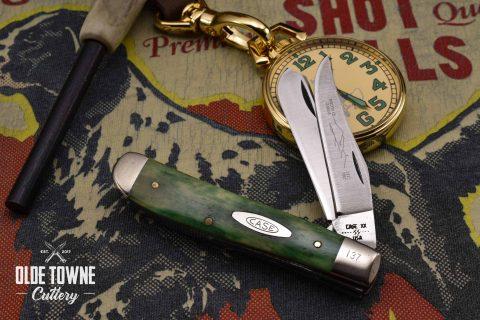 Vintage Case Trapper Smooth Green Bone