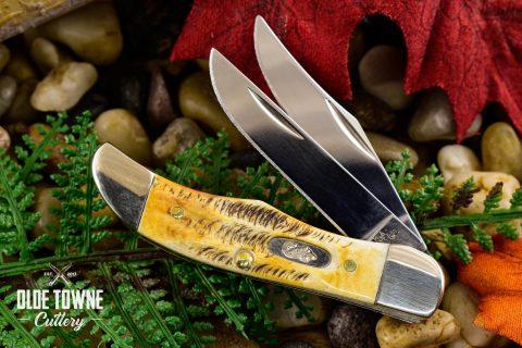 W.R. Case & Sons Pocket Hunter Bone Stag