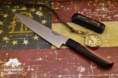 """Due South Knives Akagi Chef 8"""" Ebony"""
