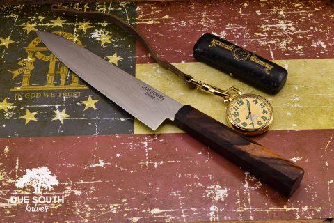 "Due South Knives Akagi Chef 8"" Cocobolo"