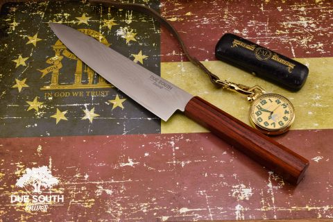 "Due South Knives Akagi Chef 8"" Padauk"