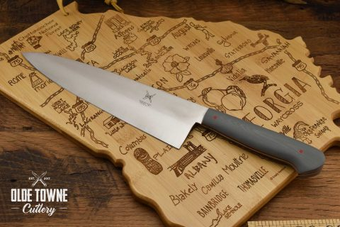"Due South Knives 8"" Chef Grey G10"