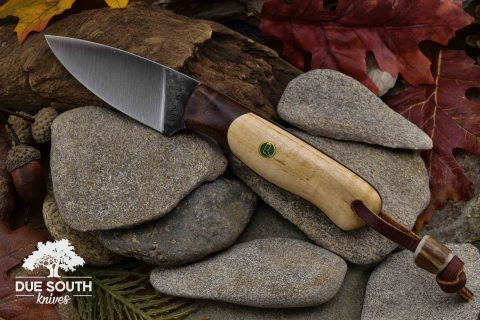 Due South Knives Edisto Curly Maple/Chechen