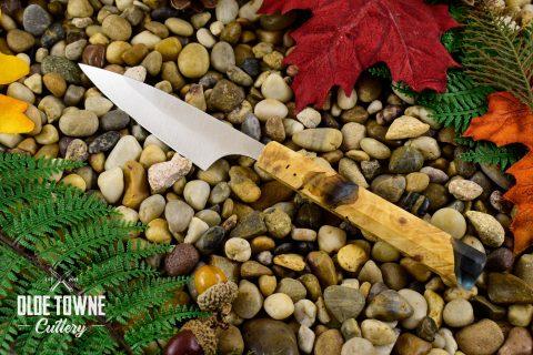 """Rowland Cutlery 4"""" Petty Knife Buckeye Burl (C)"""