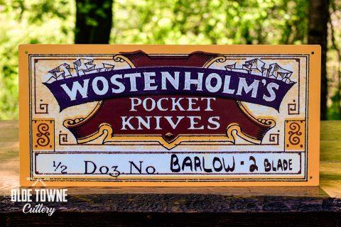 Wostenholm Pocket Knives Vintage Tin Sign