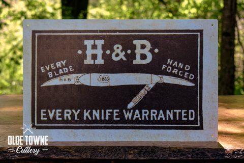 H & B Vintage Advertising Tin Sign 10 X 16
