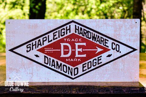 Shapleigh Hardware D.E. Vintage Tin Sign