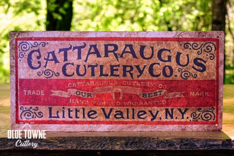 Cattaraugus Little Valley Vintage Tin Sign