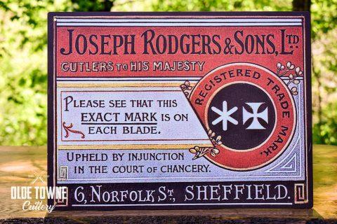 Joseph Rodgers Vintage Tin Sign