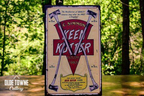 Keen Kutter Axes Vintage Tin Sign