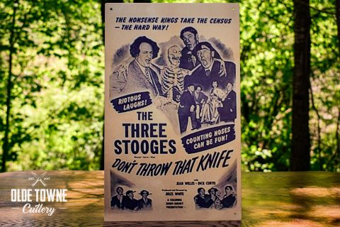 The Three Stooges Knives Vintage Tin Sign