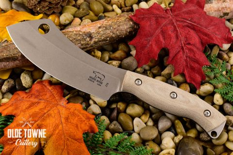 White River Knife & Tool WRCC55-MNA Camp Cleaver Natural