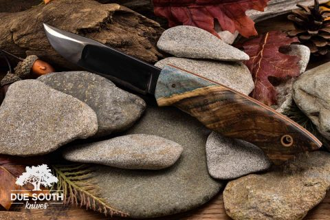 Due South Knives Ideal Tribute Walnut Burl #3