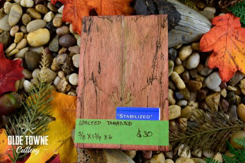 Handle Material Spalted Tamarind Red 3/8 x 1 3/4 x 6