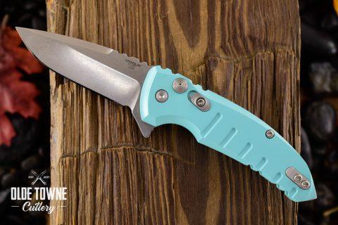 Hogue Knives 24173 X1-Micro Manual Matte Aqua Blue *