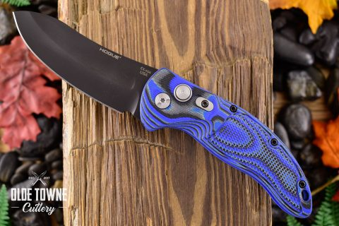 Hogue Knives 34433 EX-A04 G10 G-Mascus Blue Lava