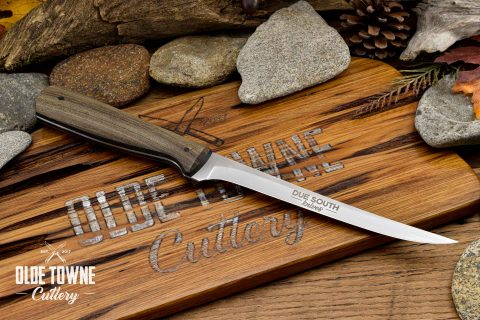"Due South Knives 6 1/2"" Fillet Cypress #10"