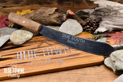 "Due South Knives 10"" Butcher Live Oak"