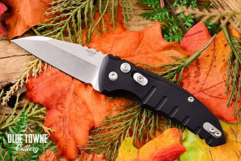 Hogue Knives 24100 A01 Micro Matte Black Aluminum