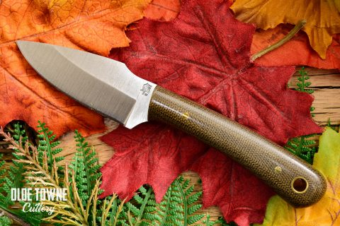 LT Wright Great Plainsman Green Canvas Micarta