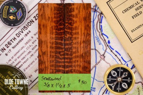 Handle Material Snakewood 3/8 x 1 1/2 x 5