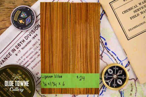 Handle Material Lignum Vitae 3/8 x 1 3/4 x 6