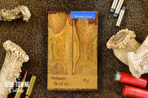 "Handle Material Marblewood 3/8"" x 2"" x 6"" #2"