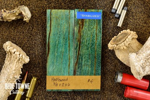 "Handle Material Marblewood 3/8"" x 2"" x 6"" #4"