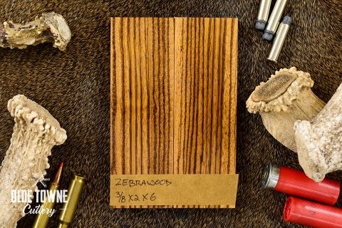 """Handle Material Zebrawood 3/8"""" x 2"""" x 6"""""""