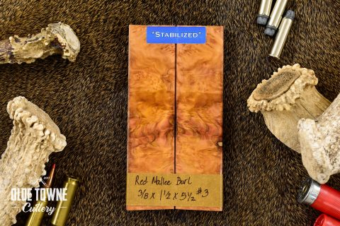 "Handle Material Red Mallee Burl 3/8"" x 1 1/2"" x 5 1/2 #3"