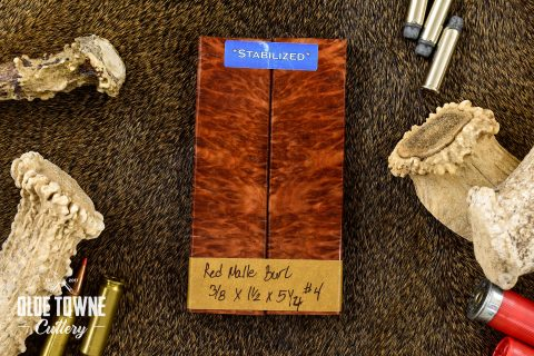 "Handle Material Red Mallee Burl 3/8"" x 1 1/2"" x 5 1/2 #4"