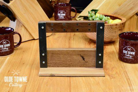 Ferrum Magnetic Knife Block - Small Walnut