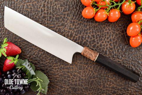 Rowland Cutlery Nakiri Gabon Ebony/Redwood (C)