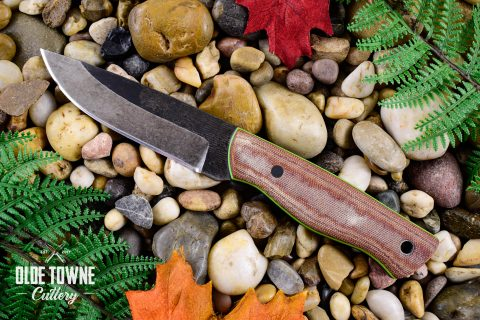 Alfa Knife Woodsman Brown Micarta