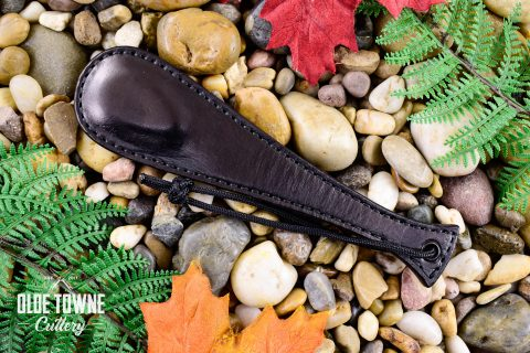 Alfa Knife Black Leather Slap Fishtail