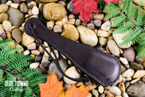Alfa Knife Black Leather Slap Paddle