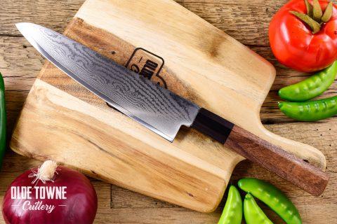 """Due South Knives Akagi Chef 8"""" Patagonian Rosewood"""