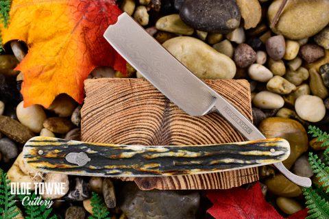 Rough Rider RR2159 Cinnamon Stag Folding Razor