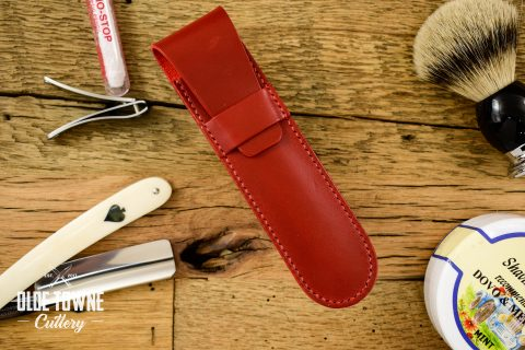 Straight Razor Sheath Red