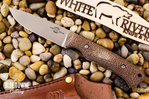 White River Knife & Tool WRHNT-BNA Hunter Natural Burlap Micarta