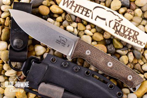 White River Knife & Tool WRUR45-BNA Ursus 45 Natural Burlap Micarta