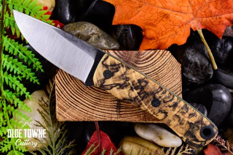"""Rowland Cutlery 3"""" Clip Pt Spalted Hackberry (C)"""