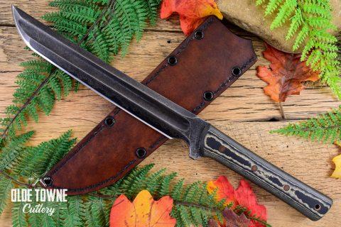 Alfa Knife Tanto Black/Brown Richlite