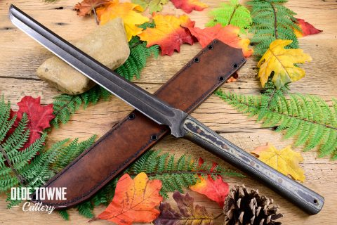 Alfa Knife Wakizashi Black/Brown Richlite
