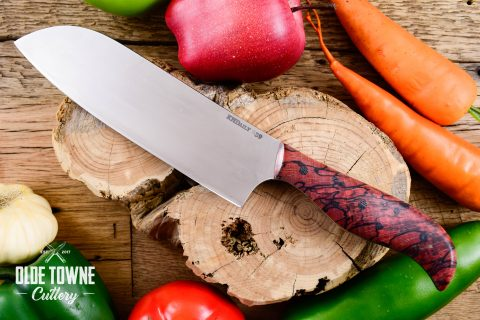 """KH Daily 7"""" Santoku #239 Spalted Beech (C)"""