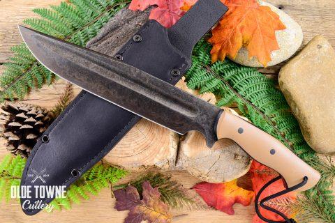 Alfa Knife AK12 Bowie Tan G10 w/Sheath